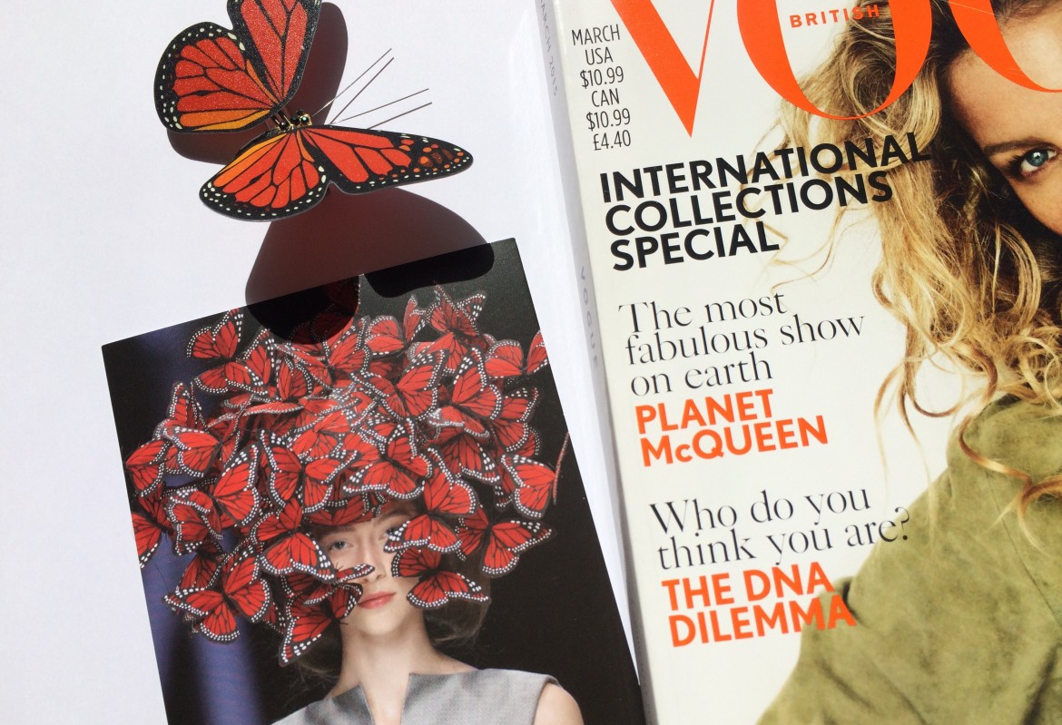 McQueen butterfly vogue